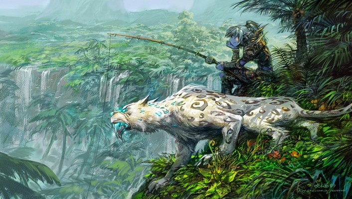 World of warcraft hunter fantasy art wallpaper