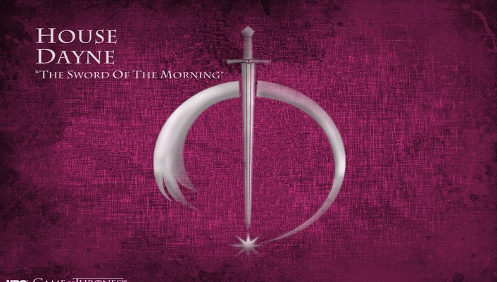 Of thrones logos tv series house dayne wallpaper
