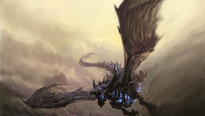 Dragons flying world of warcraft fantasy art sindragosa wallpaper