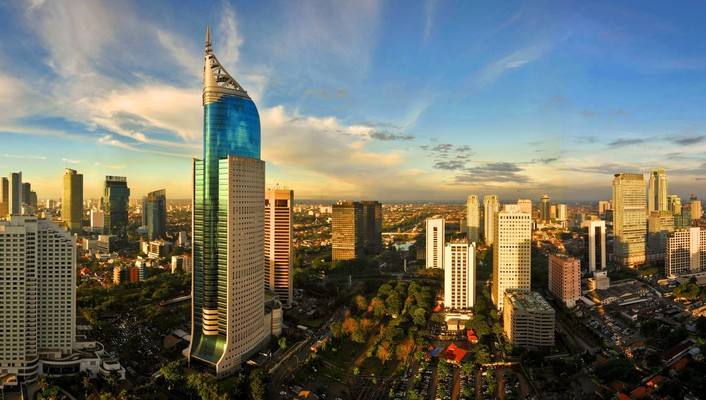 Cityscapes indonesia cities skyline jakarta wallpaper