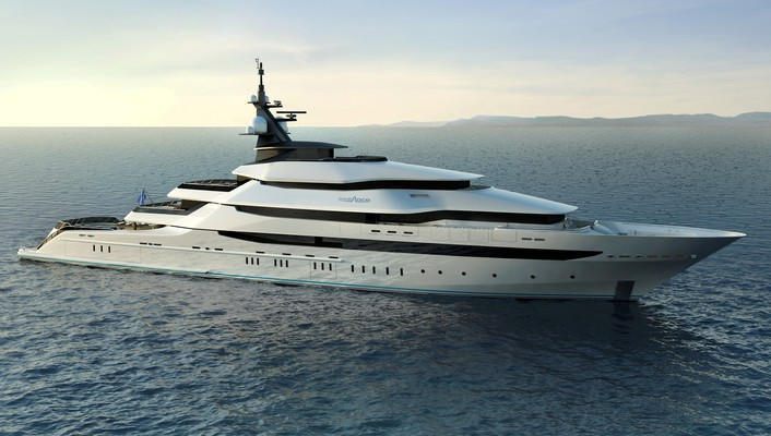 Ocean cgi yachts luxury boats oceanco sea wallpaper
