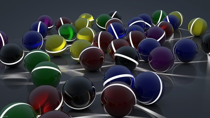 Surface balls glow lot wallpaper