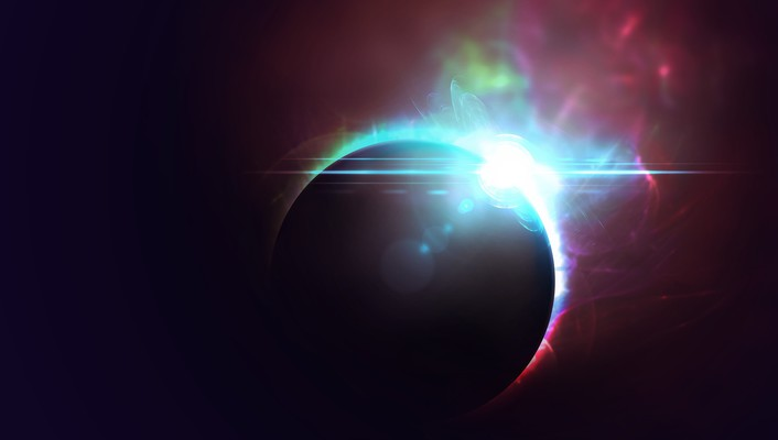 Outer space eclipse wallpaper