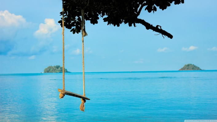 Relaxing sea swing wallpaper