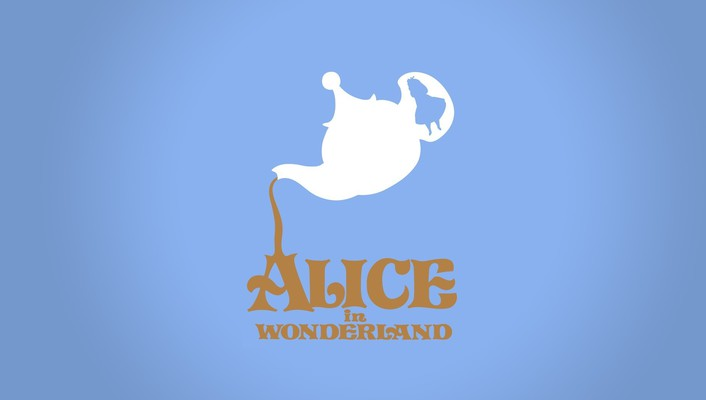Wonderland disney company digital art minimalistic movies wallpaper