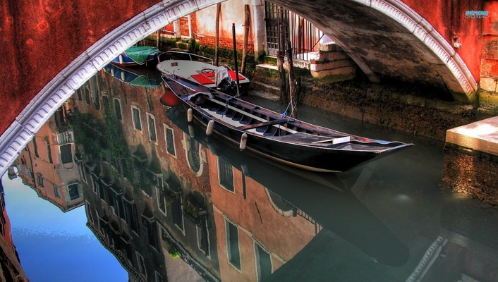 Venice gondolas wallpaper