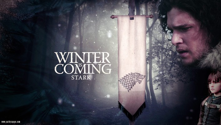 Tv series winter is coming house stark wallpaper