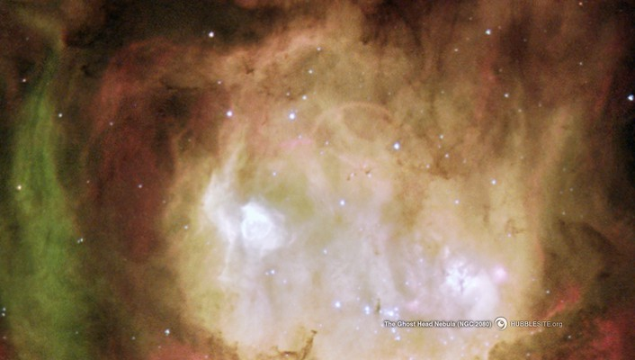 Outer space stars nebulae head hubble ghost wallpaper