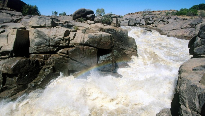 Orange river augrabies falls national park south africa wallpaper