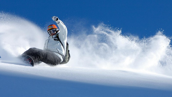Blizzard cold snow snowboarding splashes wallpaper
