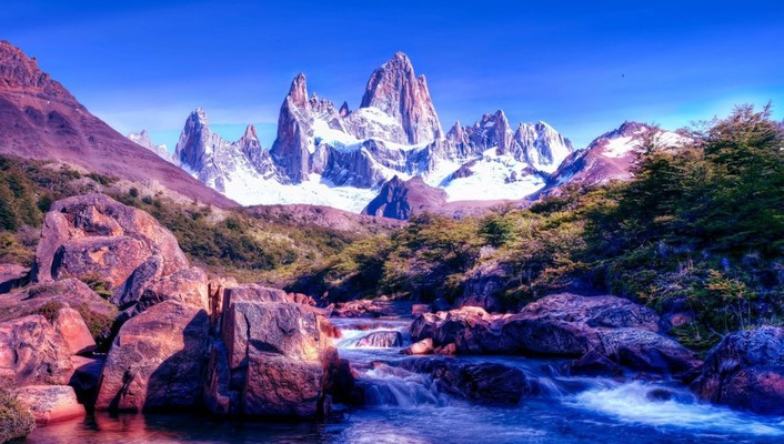 Argentina patagonia ice mountains wallpaper