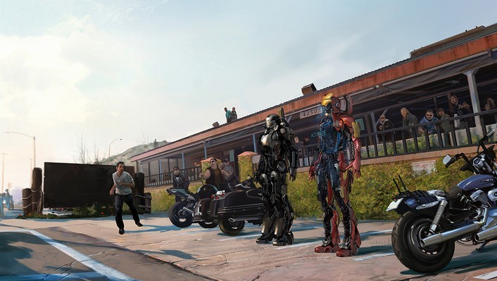 Iron man 3 artwork concept art wallpaper