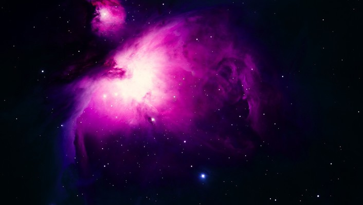 Outer space purple stars wallpaper