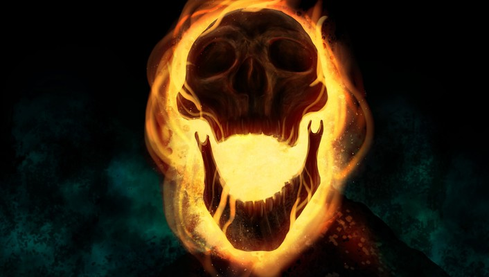 Cartoons skulls comics fire ghost rider drawings traditional wallpaper