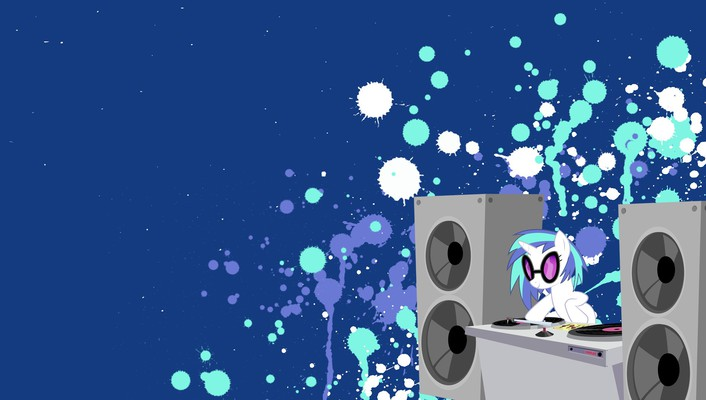 Vinyl scratch my little pony: friendship is magic wallpaper