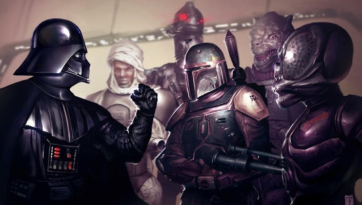 Darth vader the bounty hunters wallpaper