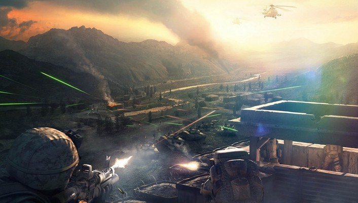 Operation flashpoint games red river video wallpaper