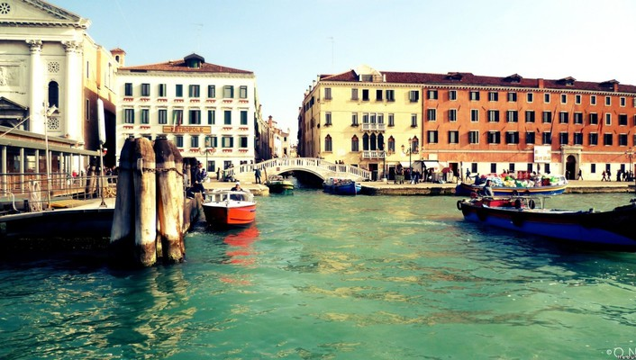 Europe venice boats buildings cityscapes wallpaper