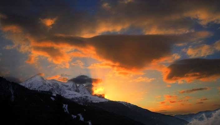 Sunset nature italy alps wallpaper