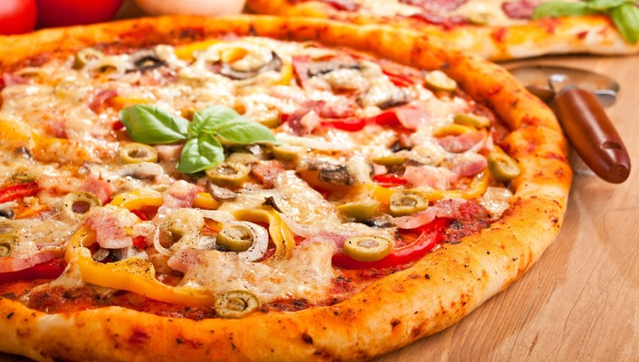 Food pizza vegetables wallpaper