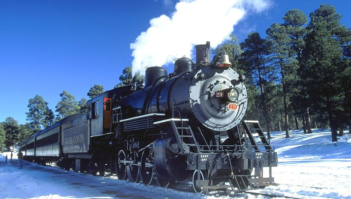 Engines trains grand canyon locomotives widescreen wallpaper
