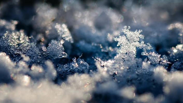 Frost melting snow winter wallpaper