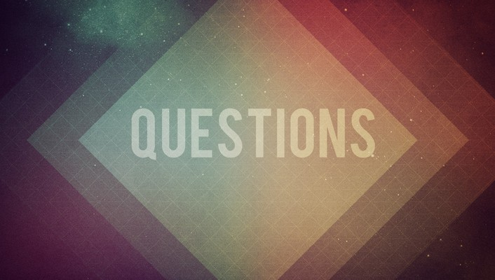 Outer space multicolor text typography questions wallpaper