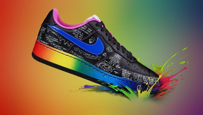 Nike multicolor shoes wallpaper