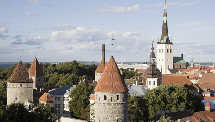 Trees cityscapes architecture day europe tallinn wallpaper