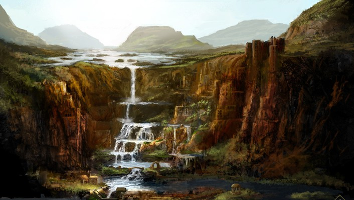 Landscapes fantasy art artwork wallpaper