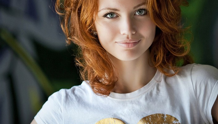 Women redheads faces wallpaper