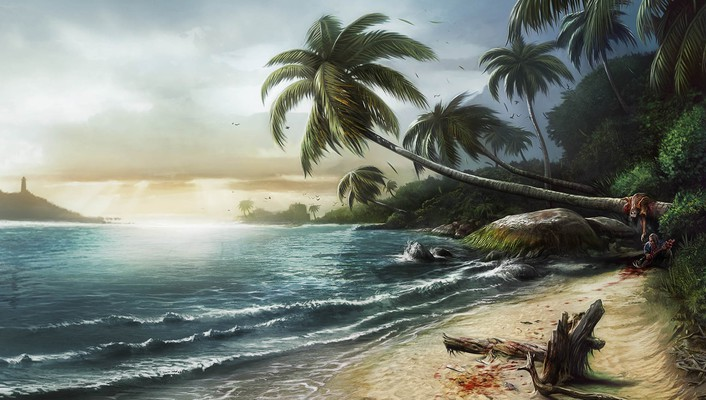 Playstation 3 artwork beach girls video games wallpaper