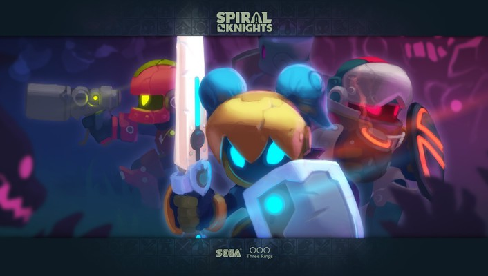 Surrounded spiral knights wallpaper