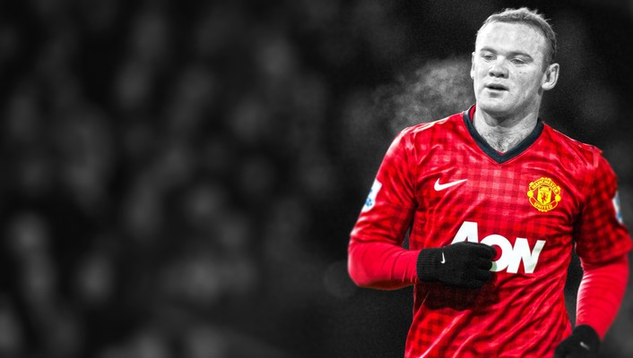 Rooney premier league stars cutout football player wallpaper