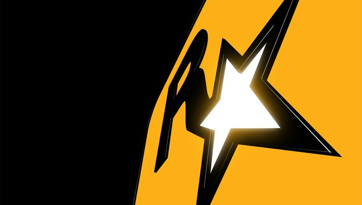 Black gold rockstar games logos wallpaper