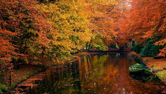 Autumn nature reflections rivers wallpaper