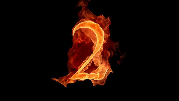 Flames black figure fire typography numbers alphajet two wallpaper