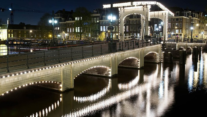 Cityscapes holland reflections wallpaper