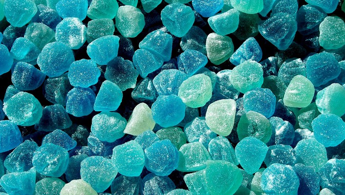 Blue jelly candy wallpaper