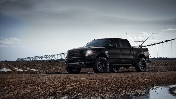 2014 ford raptor black wallpaper