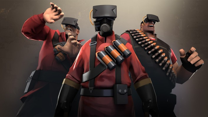 Steam team fortress 2 vr mann vs machine wallpaper