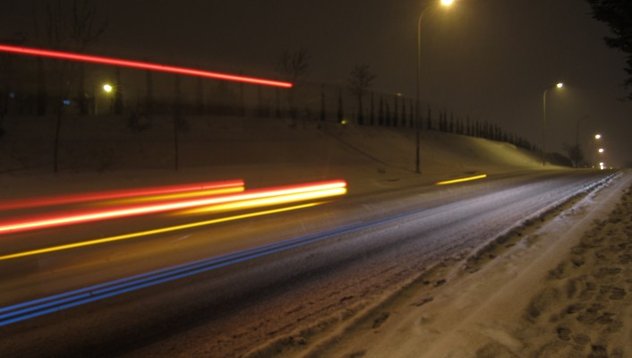 Cityscapes highways snow wallpaper