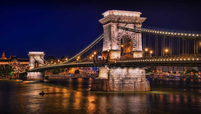 Chain bridge budapest wallpaper