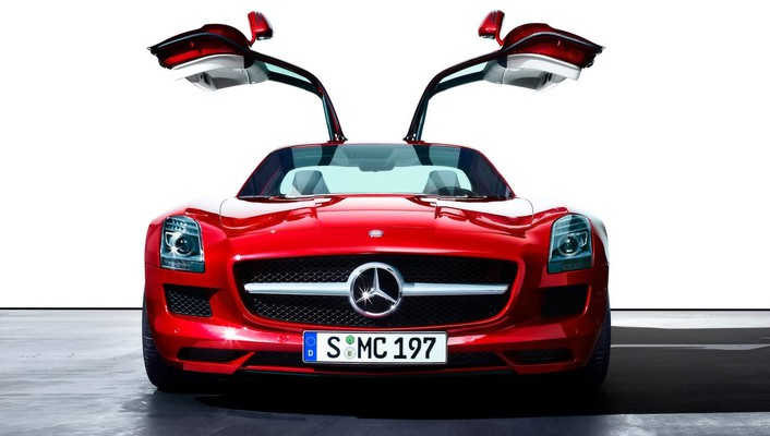Mercedesbenz sls amg ecell cars red wallpaper