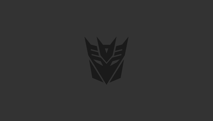Black minimalistic transformers dark simple decepticons wallpaper