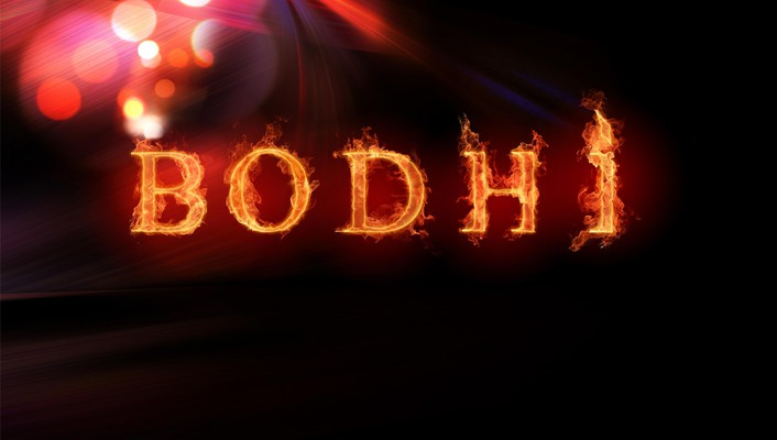 Bodhi linux flames wallpaper