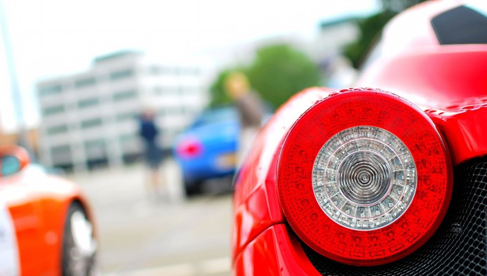 Close-up cars ferrari 458 italia taillights wallpaper