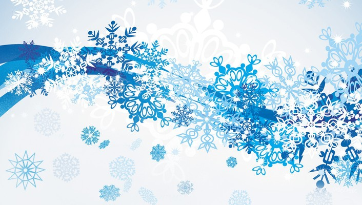 Winter snow scatter wallpaper