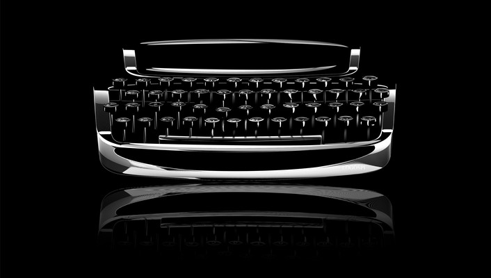 Dark typewriter wallpaper