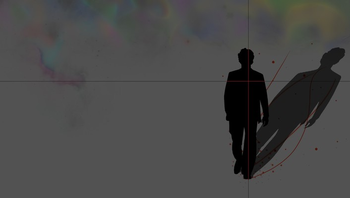 Minimalistic galaxies gray silhouettes lonely dreams wallpaper